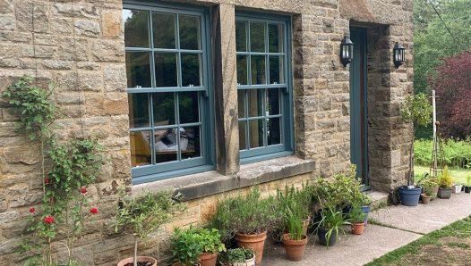 Painted timber sliding sash windows