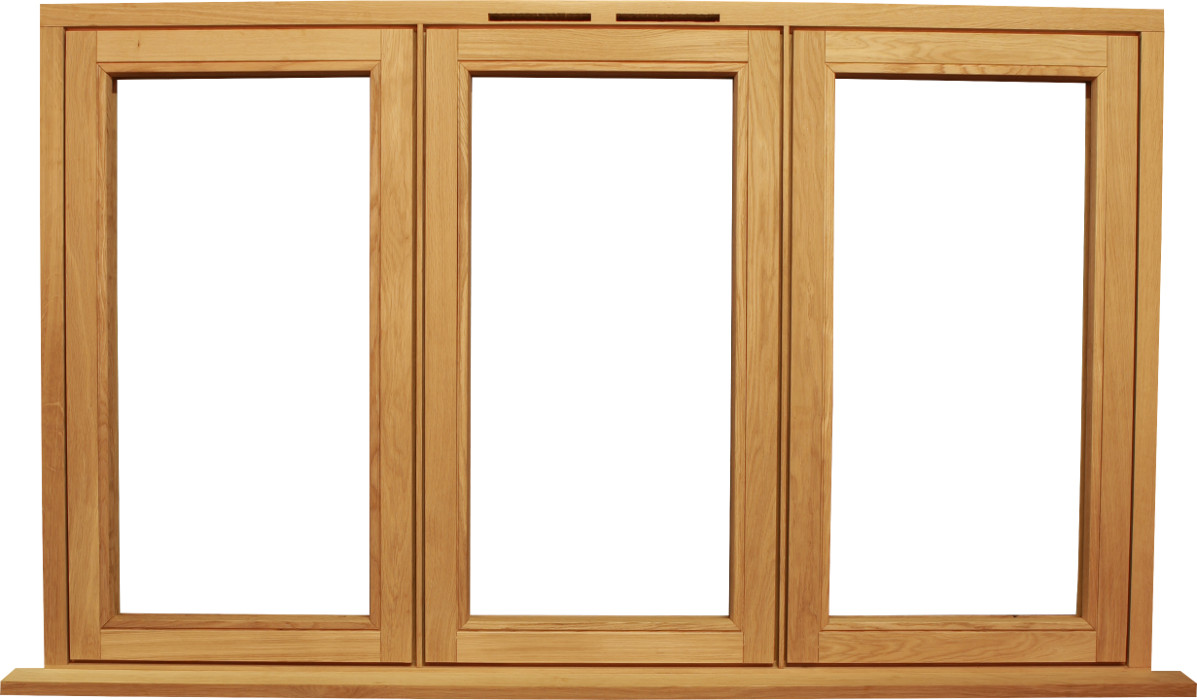 Oak flush casement window